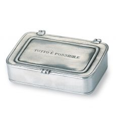 """TUTTO E` POSSIBILE"" Lg Pewter Box by Match"