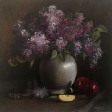 For the Love of Lilacs oil painting by Louise Hafesh