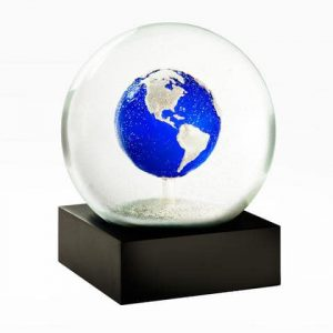 Big Blue Earth Snow Globes